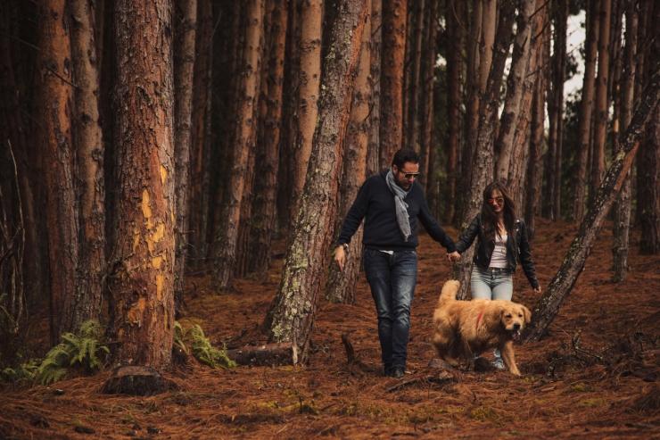 novias, bodas colombia, boda bosque, preboda, neusa, perro